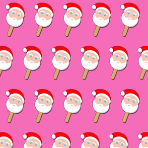 santa bubblegum ice cream on pink