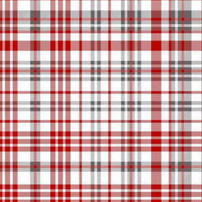 ohio state plaid - charcoal and red plaid, check, tartan, football, college football