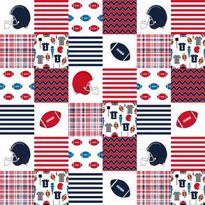 "ole miss quilt 3"" squares - sport, sports, college football, football fabric"