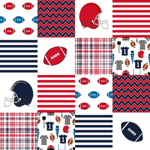 "ole miss quilt 6"" squares - sport, sports, college football, football fabric"