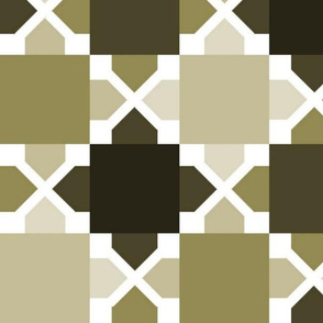 Two Tone Tiles Taupe LRG
