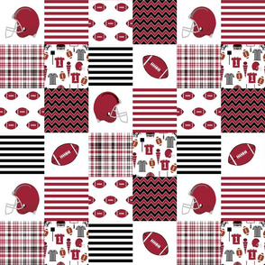 "arizona quilt 3"" squares college football, football, sport, sports - razorbacks"