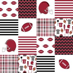 "arizona quilt 6"" squares college football, football, sport, sports - razorbacks"