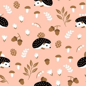 Hedgehogs on pink