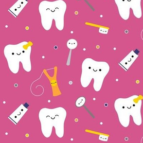 XL Happy Teeth and Friends - Pink