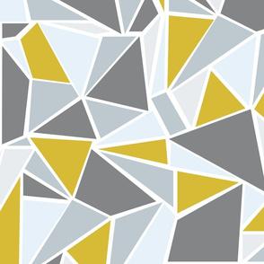 Colour Blocking  Mustard Grey