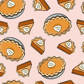 Pumpkin pie - toss - fall food - thanksgiving - pie slice - pink - LAD19
