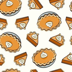 Pumpkin pie - toss - fall food - thanksgiving - pie slice - cream - LAD19