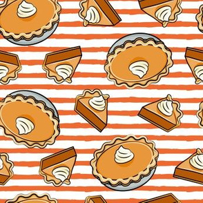 Pumpkin pie - toss - fall food - thanksgiving - pie slice - orange stripe - LAD19