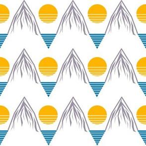 Mountain Sea Sun Print