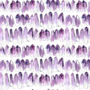 Watercolour Crystals - Amethyst - smaller