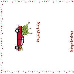 Red Truck Christmas- tea towel