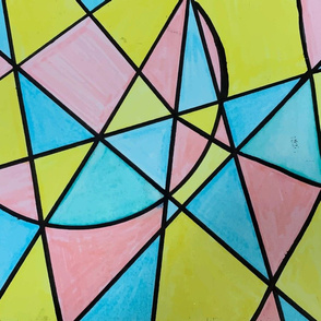 Pastel Triangles and Circle Color Blocks