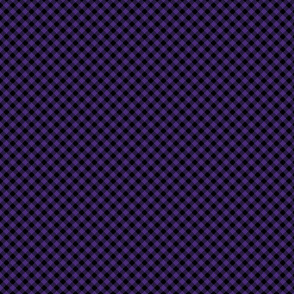 Diagonal Purple and Black Mini 1/4 Inch Buffalo Checks