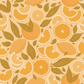 Retro Citrus Fruits