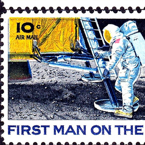 First_Man_on_Moon_19 July 1969_First day of Issue-10c Airmail