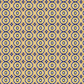 Moroccan Tile Blue, Yellow and White-ed