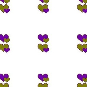 olive and purple hearts