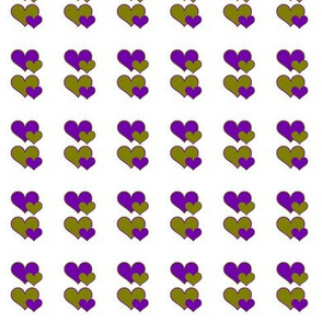 olive and purple hearts ll