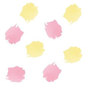 Seamless pattern banana and pink brush strokes