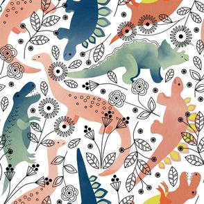 Dinos in the Garden