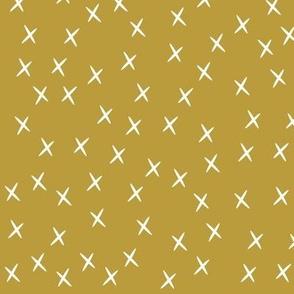 crosses - mustard, small scale