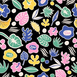 Tropical Monstera Pattern