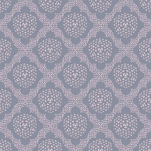 Batik Trellis - Gray and Blush
