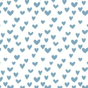 Small blue heart on white background