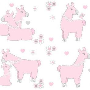 Pink Llama Baby Girl