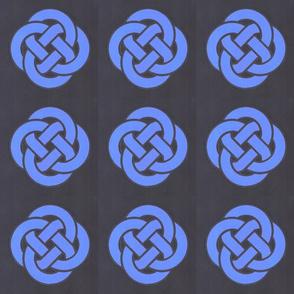 Blast-Off Blue Center Knot