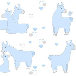 Blue Llama Baby Boy