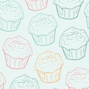 Cupcake Linework