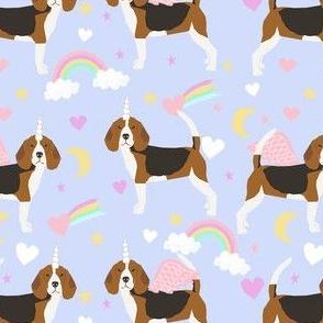 beagle unicorn fabric - cute beagles fabric, pastel unicorn fabric, pastel dog fabric, dog unicorns,  - lilac