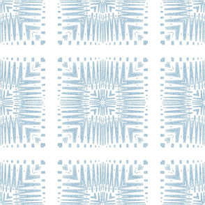 Aztec Squares in Velvety Powder Blue Reversed