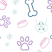 hand drawn dog pattern