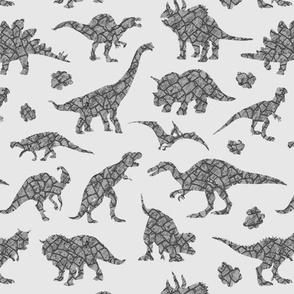 Granit dinosaurs in grey