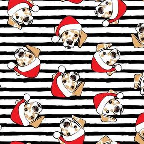 Christmas Lemon Dalmatians - black stripes-  LAD19