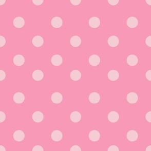 Half inch dark pink polka dot