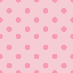 Half inch pink polka dot