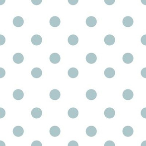 Half inch blue polka dot