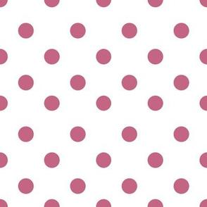 Half inch rose pink polka dot