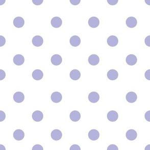 Half inch violet polka dot
