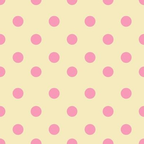 Half inch polka dot pink and yellow