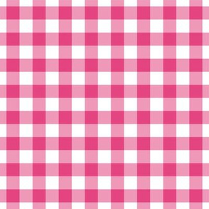 Half inch pink gingham
