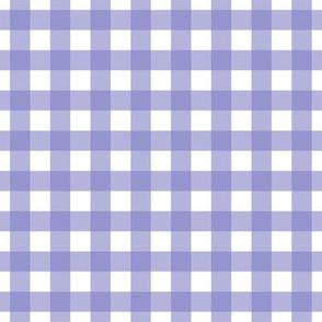 Half inch violet gingham