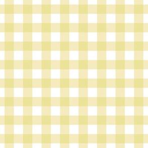 Half inch yellow gingham