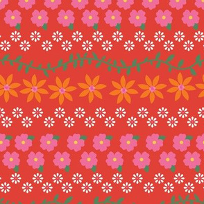 Tiny Summer Flowers / Brick