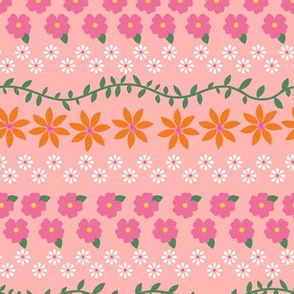 Tiny Summer Flowers / Pink