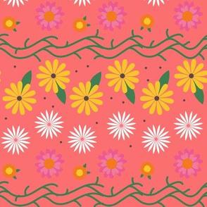 Summer Hippie Flowers / Peach